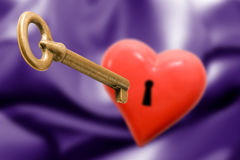 The key for your heart Royalty Free Stock Photo
