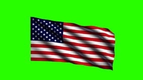 Keyable Flag of USA stock video