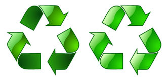 Keyable Recycling Symbol. Detailed keyable Recycling Symbol with outline Stock Image