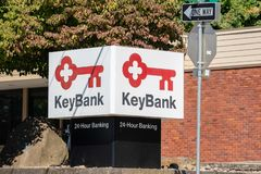 Keybank logo outdoors royalty free stock images