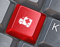 Keyboad with key for help Royalty Free Stock Photography