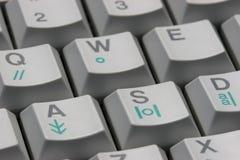 Keyboard 01. Close-up of a typewriter keyboard Royalty Free Stock Images