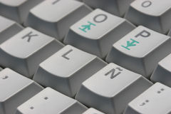 Keyboard 03. A keyboard with spanish characters Stock Photo