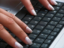 Keyboard. Of the laptop Stock Photography
