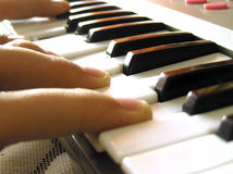 The keyboard. The science of game on instrument Stock Images