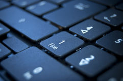 Keyboard. Close up on a black keyboard of a laptop Royalty Free Stock Image