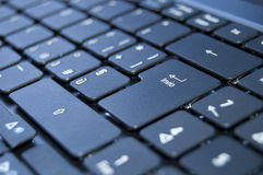 Keyboard. Close up on a black keyboard of a laptop Stock Images