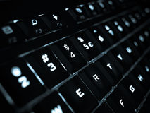 Keyboard. Illuminated keyboard showing like technology Royalty Free Stock Image