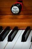 Keyboard. An old pipe organ keyboard in a church Stock Photos