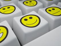 Keyboard. Of buttons which put smiles instead of symbols Royalty Free Stock Photo