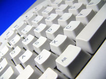 Keyboard. With blue background royalty free stock image