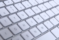 Keyboard. Modern computer keyboard with qwerty close-up Royalty Free Stock Photo