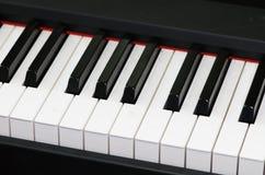 Keyboard. Closeup shot of black and white music keyboard Royalty Free Stock Photography