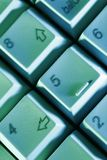 Keyboard. Computer-Keyboard in colorful lighting Royalty Free Stock Image