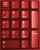 Keyboard. Red keyboard close up, computer keys on keyboard Stock Photos