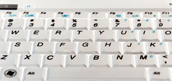Keyboard. White notebook computer keyboard Royalty Free Stock Image