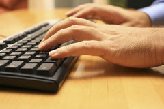Keyboard #3. A keyboard on the table Stock Image
