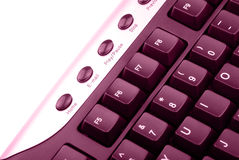 Keyboard. Computer keyboard in isolated background Stock Photos