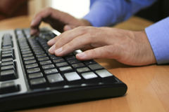 Keyboard #4. A keyboard on the table Royalty Free Stock Photo