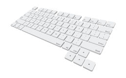 Keyboard. Illustration of a laptop computer keyboard, path included Royalty Free Stock Photos