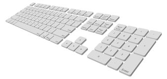 Keyboard. Illustration of a computer keyboard, path included Stock Image