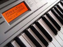 Keyboard. Electric piano keyboard with LCD display Royalty Free Stock Photos