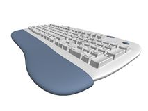 Keyboard. Isolated keyboard vector illustration