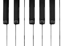 Keyboard. Black and white keys on music keyboard of piano or organ Royalty Free Stock Photos