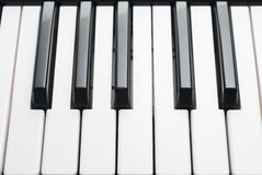 Keyboard. Close up of piano keyboard Royalty Free Stock Photo