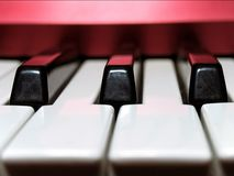 Keyboard. Electronic piano keys royalty free stock photography