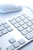 Keyboard. White keyboard on the table Stock Image