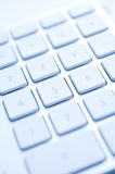 Keyboard. White keyboard on the table Royalty Free Stock Image