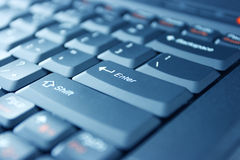 Keyboard. Computer keyboard zoom in ENTER button Stock Images