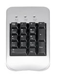 Keyboard. Pc keyboard closeup view, isolated on white background Stock Images