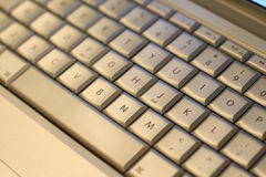 Keyboard. With silver keys and bar royalty free stock photo