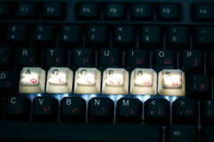 Keyboard access  key Stock Image