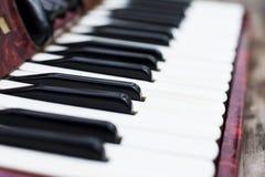 Keyboard of accordian Stock Photos