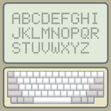 Keyboard and alphabet Royalty Free Stock Images