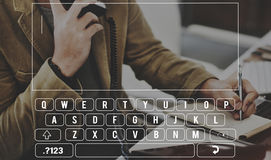 Keyboard Alphabet Computer Electronic Letter Concept Royalty Free Stock Photos