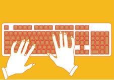 Keyboard&hand Stock Afbeeldingen