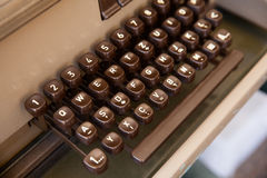 Keyboard of ancient telex Royalty Free Stock Images