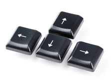 Keyboard arrow buttons Royalty Free Stock Images