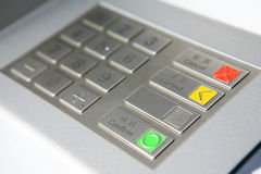 Keyboard in atm Stock Image