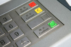 Keyboard in atm Stock Photos