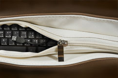 Keyboard in a bag Royalty Free Stock Photography