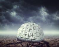 Keyboard ball Royalty Free Stock Image