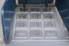 Keyboard banking machine Royalty Free Stock Images