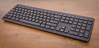 Keyboard with black buttons Royalty Free Stock Photography