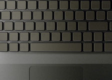 Keyboard with blank buttons Royalty Free Stock Photography