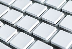 Keyboard with blank keys Stock Images
